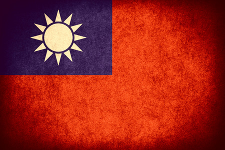 taiwanese: flag of Taiwan or Taiwanese banner on paper rough pattern vintage texture