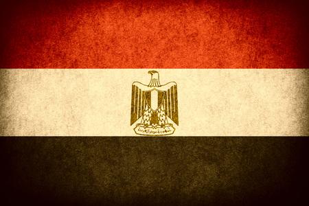 bandera de egipto: flag of Egypt or Egyptian banner on paper rough pattern vintage texture