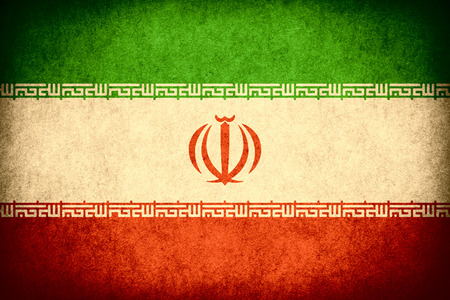 iranian: flag of Iran or Iranian banner on paper rough pattern vintage texture