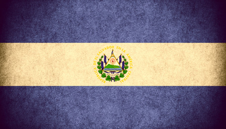 el salvadoran: flag of EL Salvador or Salvadoran  banner on paper rough pattern vintage texture