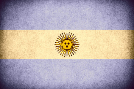 argentinean: flag of Argentina or Argentinean banner on paper rough pattern vintage texture