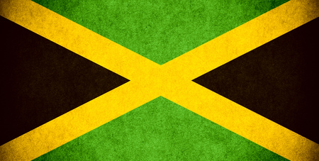 jamaican: flag of Jamaica or Jamaican banner on paper rough pattern vintage texture
