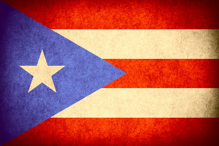 puerto rican: flag of Puerto Rico or Puerto Rican banner on paper rough pattern vintage texture