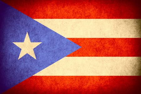 bandera de puerto rico: la bandera de la bandera de Puerto Rico o Puerto Rico en un papel de textura áspera patrón de la vendimia