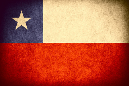 chilean: flag of Chile or Chilean banner on paper rough pattern vintage texture