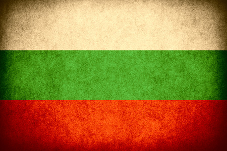 bulgarian: flag of Bulgaria or Bulgarian banner on paper rough pattern vintage texture