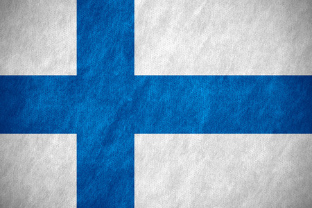 finnish: flag of Finland or Finnish banner on canvas texture