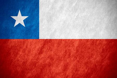 bandera chilena: bandera de Chile o la bandera chilena en la textura de la lona