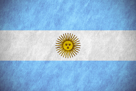 argentinian: flag of Argentina or Argentinian banner on canvas texture