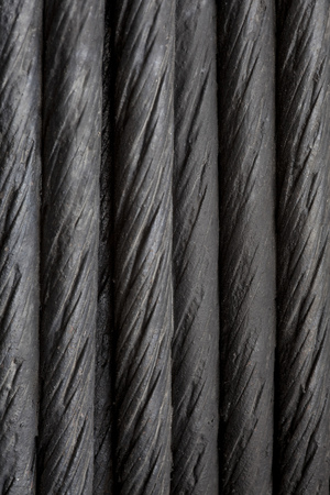 steel cable: black steel cable background or abtract texture