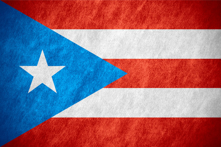 puerto rican flag: flag of Puerto Rico or Puerto Rican banner on canvas texture