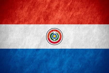 paraguayan: flag of Paraguay or Paraguayan banner on canvas texture