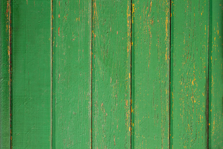painted wood: green wooden rustic background or painted wood boards texture Stock Photo