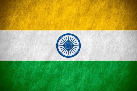 bandera de la india: bandera de la India o la bandera india en la textura de la lona