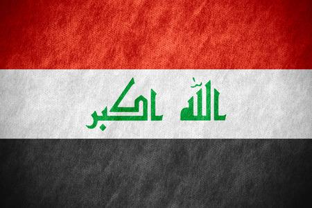 iraqi: flag of Iraq or Iraqi banner on canvas texture