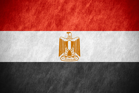 bandera de egipto: bandera de Egipto o la bandera egipcia en la textura de la lona