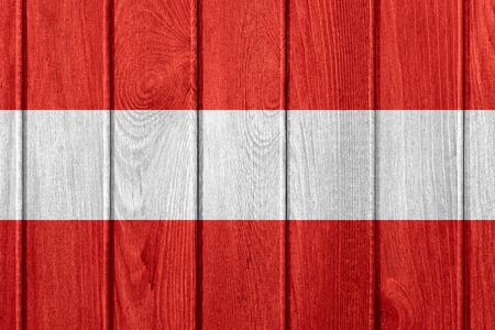 austrian: flag of Austria or Austrian banner on wooden background Stock Photo