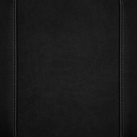 black leather texture: black leather background or grain pattern texture Stock Photo