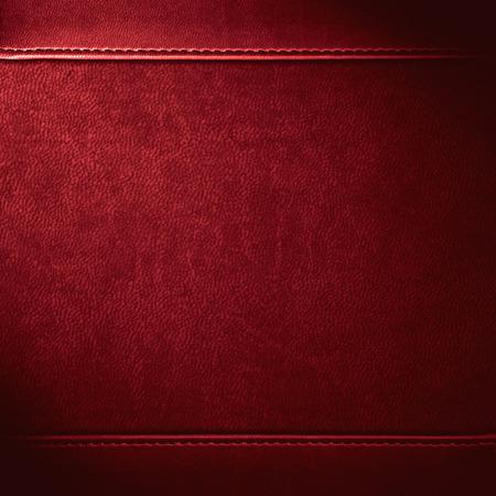 Fondo de cuero rojo o patrón de textura de grano Foto de archivo