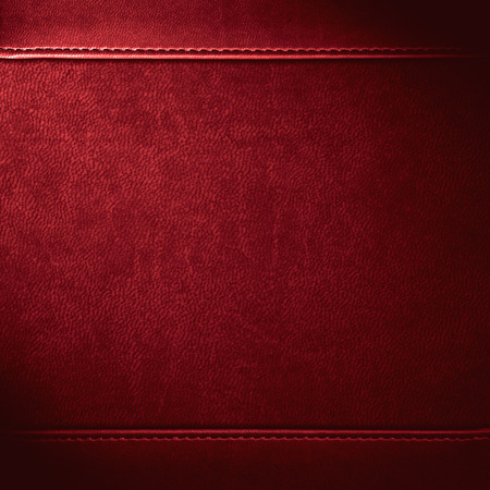 leather background: red leather background or grain pattern texture