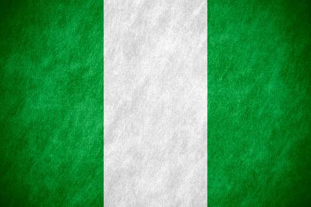 nigerian: flag of Nigeria or Nigerian banner on canvas texture