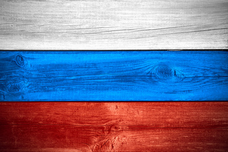 wood backgrounds: flag of Russia or Russian banner on wooden background