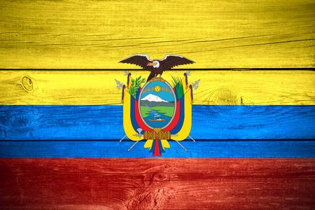 ecuadorian: flag of Ecuador or Ecuadorian banner on wooden background