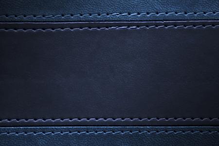 azul marino: azul y cuero de color azul marino de la textura con la costura en los márgenes