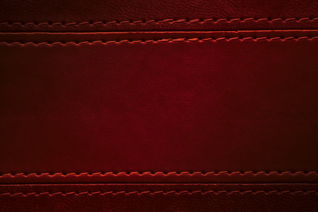 red leather texture: red leather texture with seam at margins