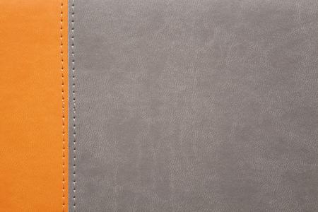 margen: textura de piel de naranja y gris con costura en el margen