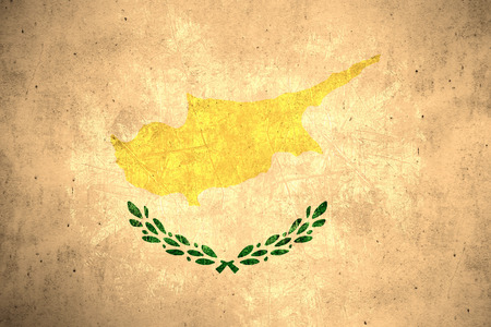 cypriot: flag of Cyprus or Cypriot banner on rough pattern texture vintage background