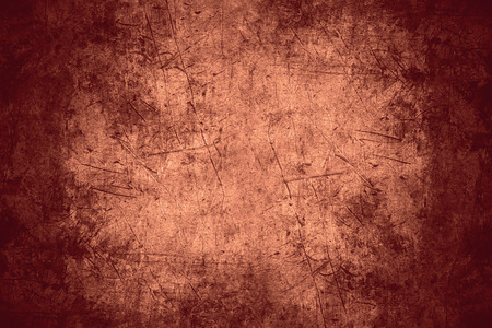 rusty background: scratched copper texture or rough pattern iron background Stock Photo