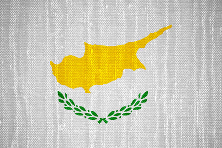 cypriot: flag of Cyprus or Cypriot banner on canvas background Stock Photo