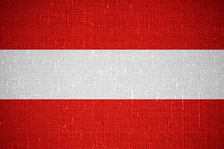 austrian: flag of Austria or Austrian banner on canvas background Stock Photo