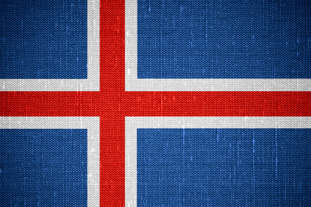 icelandic: flag of Iceland or Icelandic banner on canvas background