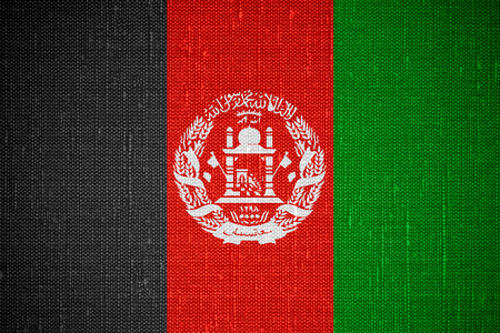 afghan flag: flag of Afghanistan or Afghan banner on canvas background