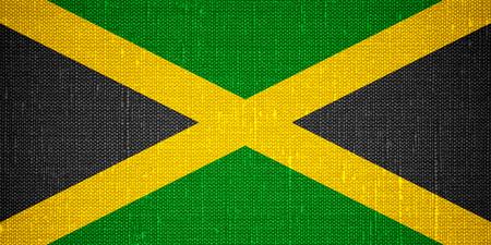 jamaican flag: flag of Jamaica or Jamaican banner on canvas background