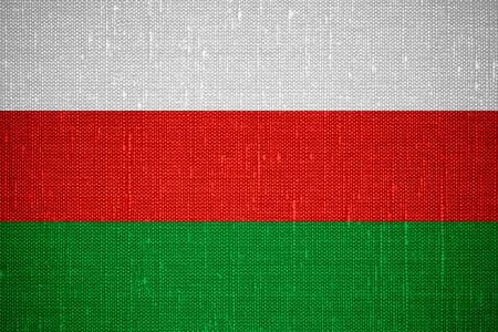 flag of Bulgaria or Bulgarian banner on canvas background