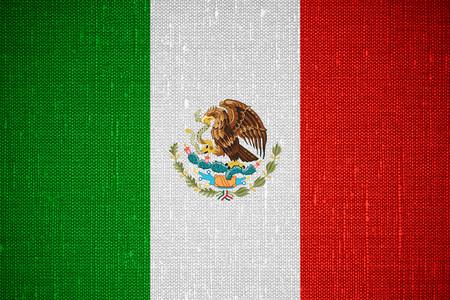 drapeau du Mexique ou de la bannière mexicaine sur toile de fond