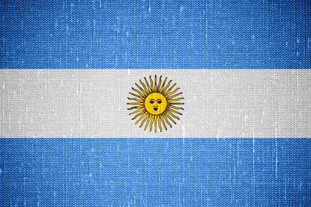 argentinian: flag of Argentina or Argentinian banner on canvas background Stock Photo