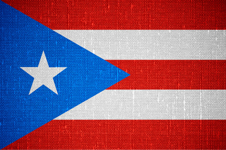 flag of Puerto Rico or Puerto Rican banner on canvas background