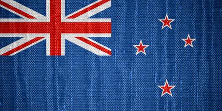 bandera de nueva zelanda: flag of New Zealand or banner on canvas background