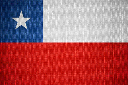 chilean flag: flag of Chile or Chilean banner on canvas background