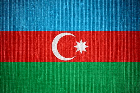 azerbaijani: flag of Azerbaijan or Azerbaijani banner on canvas background
