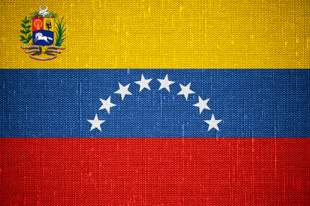 venezuelan: flag of Venezuela or Venezuelan banner on canvas background
