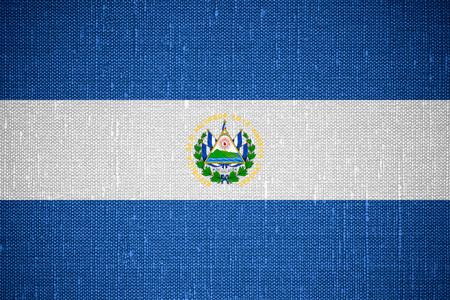 el salvadoran: flag of El Salvador or Salvadoran banner on canvas background