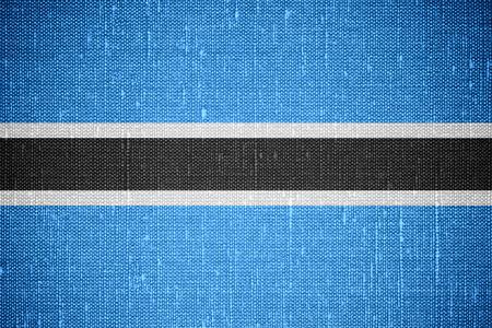 botswana: flag of Botswana or banner on canvas background