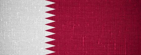 qatar: flag of Qatar or Qatari banner on canvas background