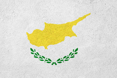 cypriot: flag of Cyprus or Cypriot banner on stone background