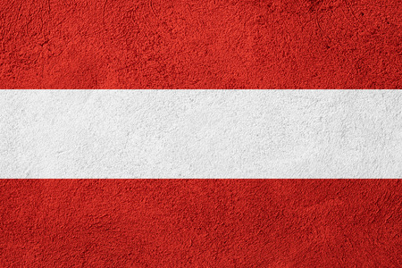 austrian: flag of Austria or Austrian banner on stone background